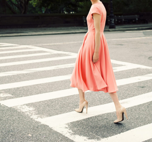 katie ermilio coral dress