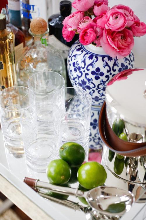 ralph lauren ice bucket and scalamandre zebra glasses