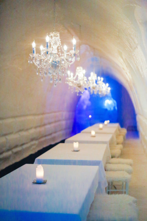snowman world ice restaurant rovaniemi finland