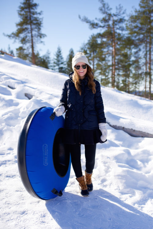 snowman world snow tubing rovaniemi finland