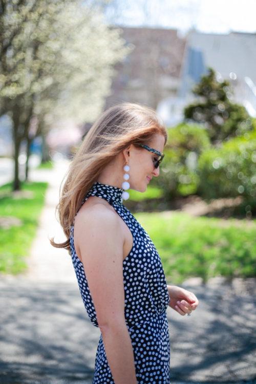 betsey johnson polka dot halter dress from nordstrom