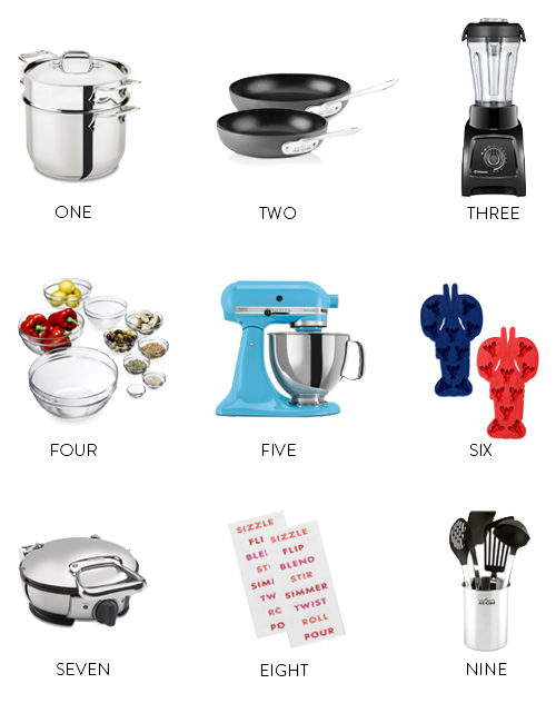 bloomingdale's kitchen items wedding registry