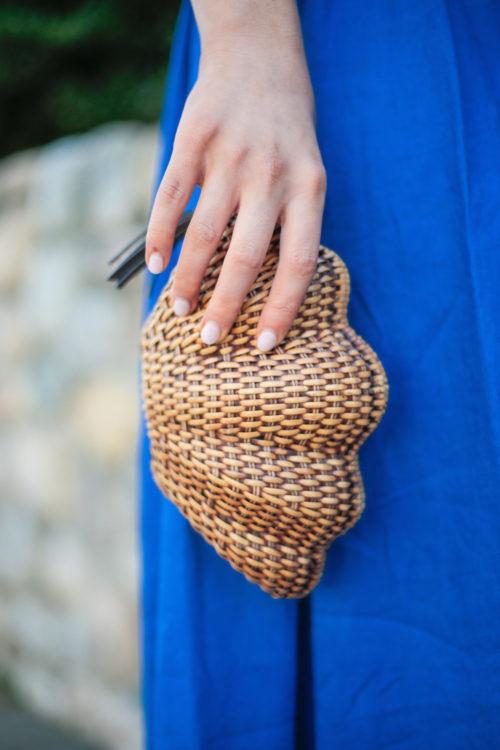 kayu wicker shell clutch on design darling
