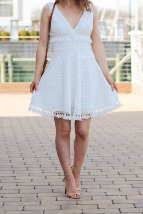 white tassel fringe dress on design darling