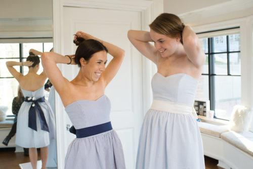 coren moore seersucker bridesmaids dresses on design darling