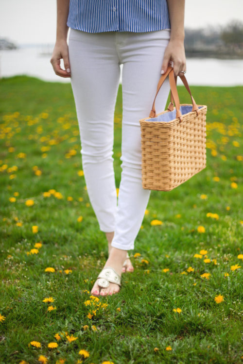 j.mclaughlin straw tote bag
