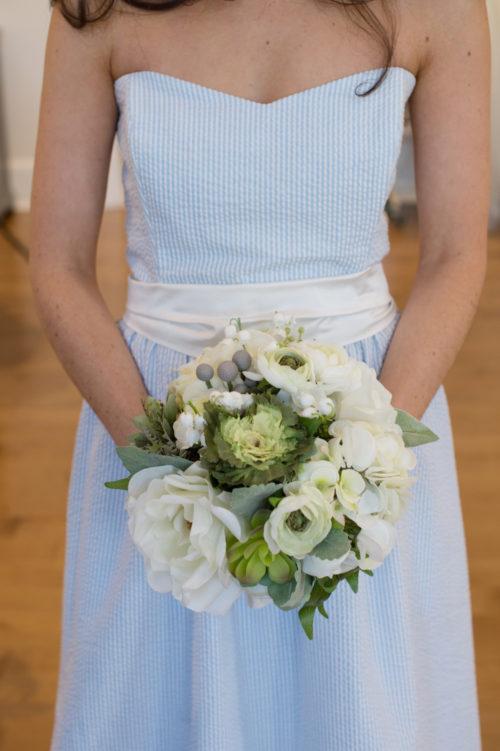 long seersucker bridesmaids dress by coren moore
