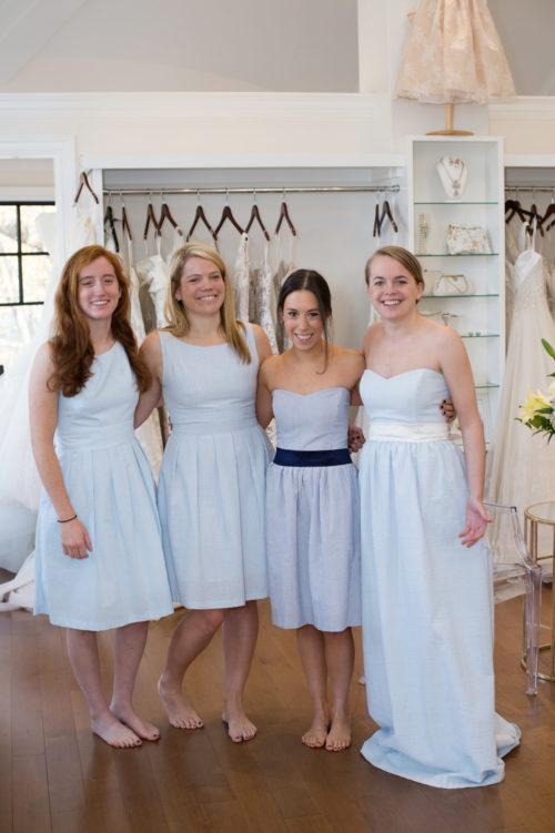 Long Seerer Bridesmaids Dresses By Coren Moore On Design Darling