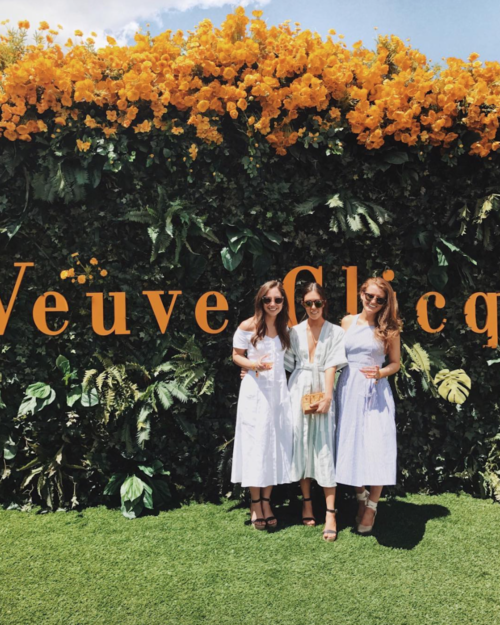 ali schilling amy stone and mackenzie horan at veuve clicquot polo classic