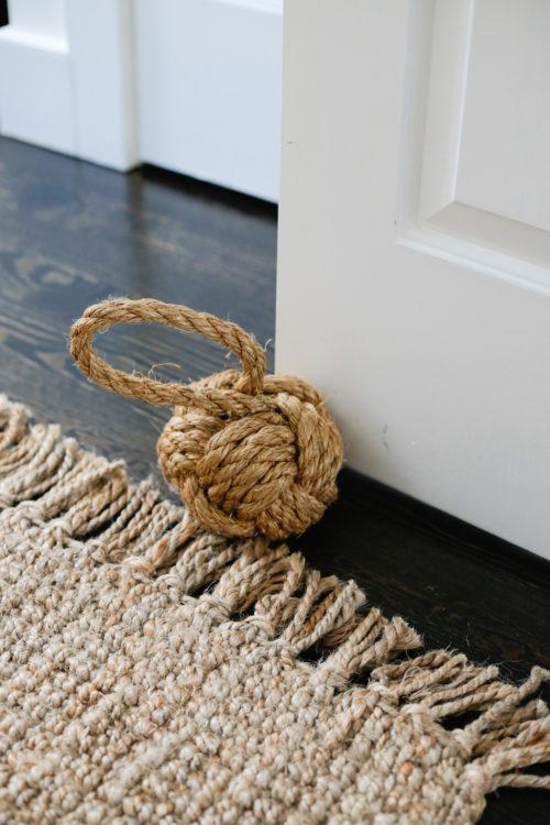 design darling nantucket house rope doorstop