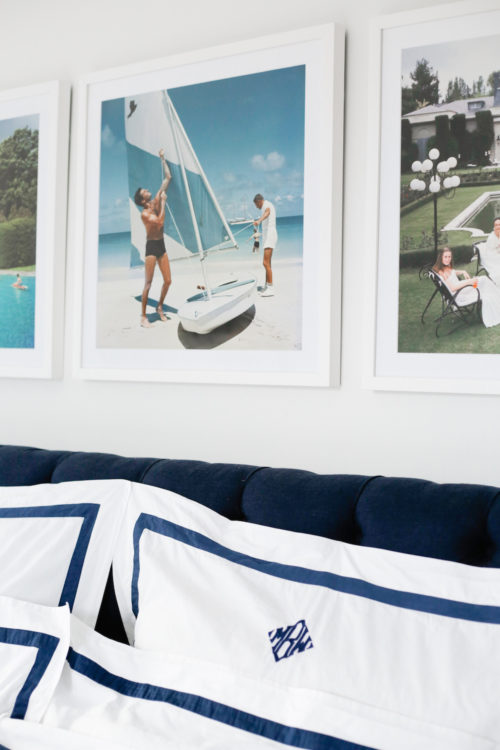design darling slim aarons prints and matouk applique monogrammed bedding