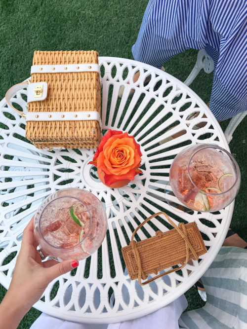 milly wicker satchel at veuve clicquot polo classic