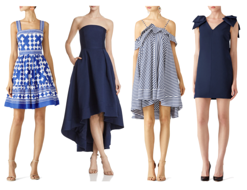 preppy blue and white dresses