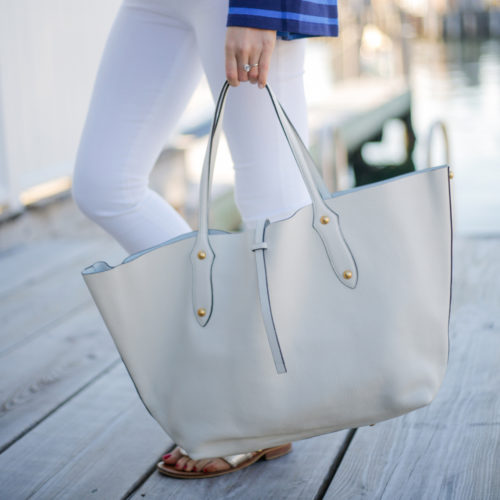 design darling annabel ingall large isabella tote in ivory leather