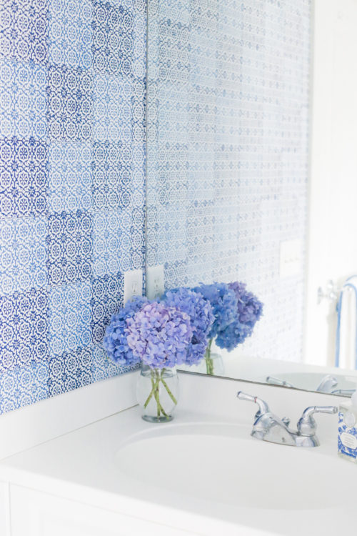 design darling nantucket bathroom peter fasano sintra wallpaper in blue and white