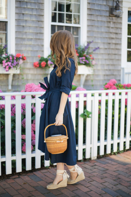 design darling thomas mason for j.crew navy shirtdress