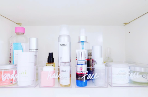 organized beauty products the home edit