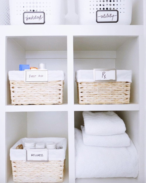 organized first aid kit the home edit
