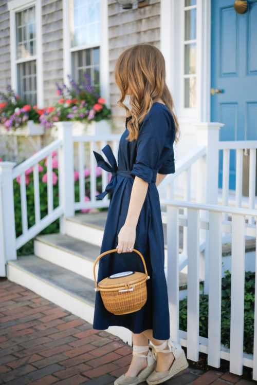 thomas mason for j.crew shirtdress nantucket lightship basket soludos wedge espadrilles on nantucket