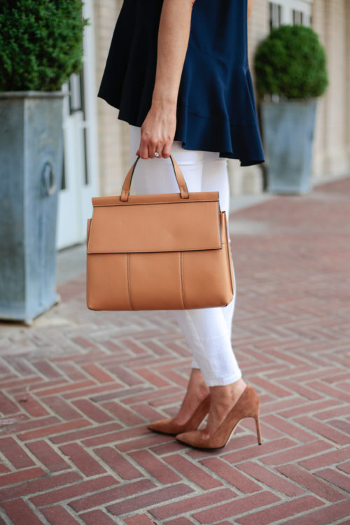 tory burch block t top handle satchel and manolo blahnik bb pointy toe pump in camel