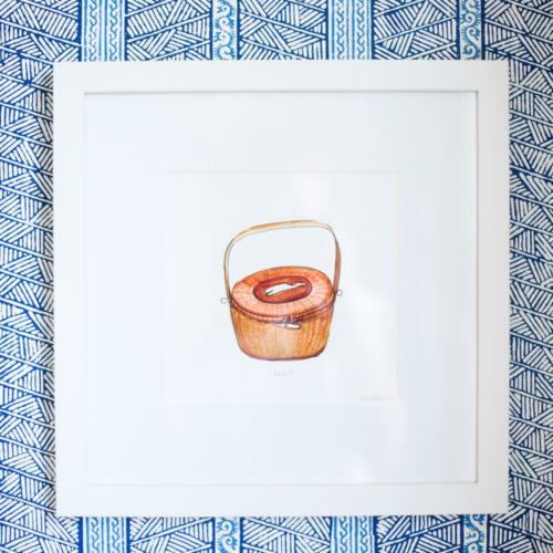 design darling nantucket lightship basket art print