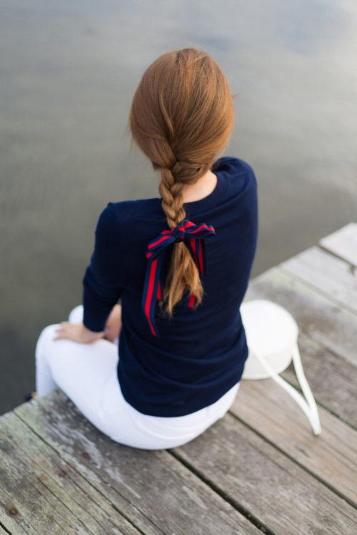 design darling striped hair ribbon