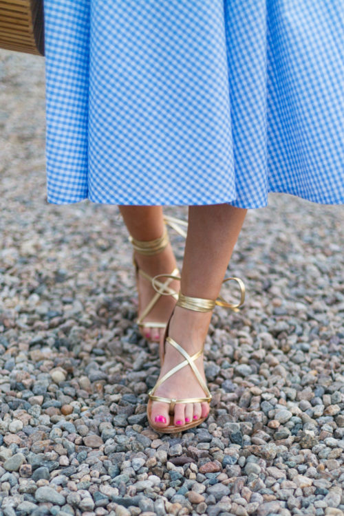 k. jacques lucile wrap sandals in lame platine