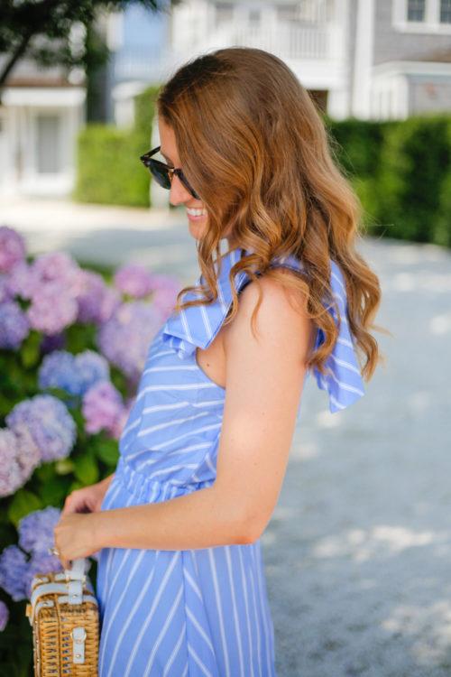 need supply palazzo dress blue and white stripe