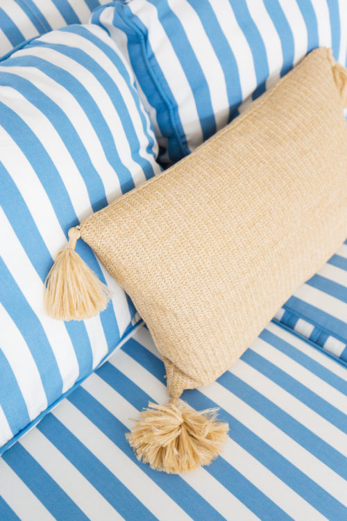 serena and lily raffia tassel pillow