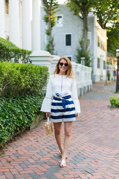 design darling striped shorts
