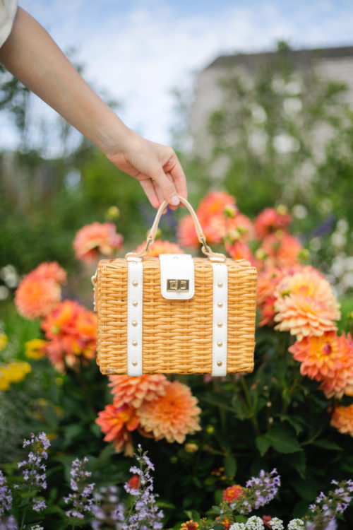 milly wicker small satchel