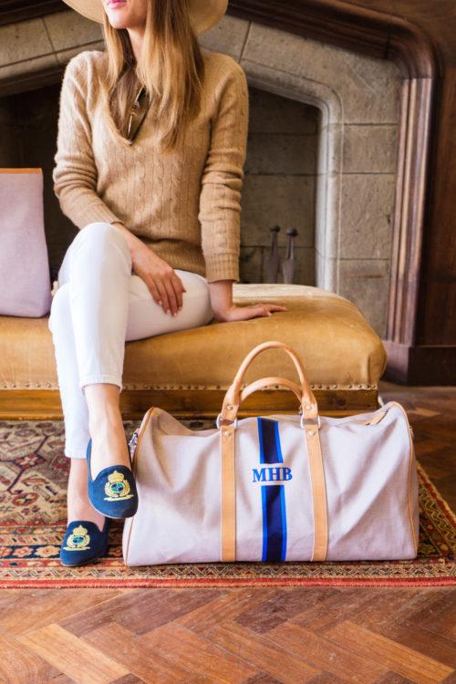 barrington gifts monogrammed duffel design darling