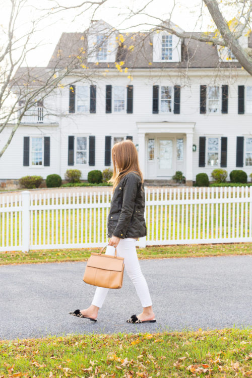 j.crew field jacket with white jeans design darling