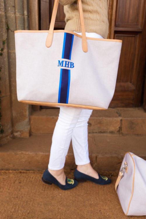 monogrammed tote bag design darling