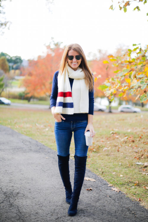 bp varsity stripe oblong scarf
