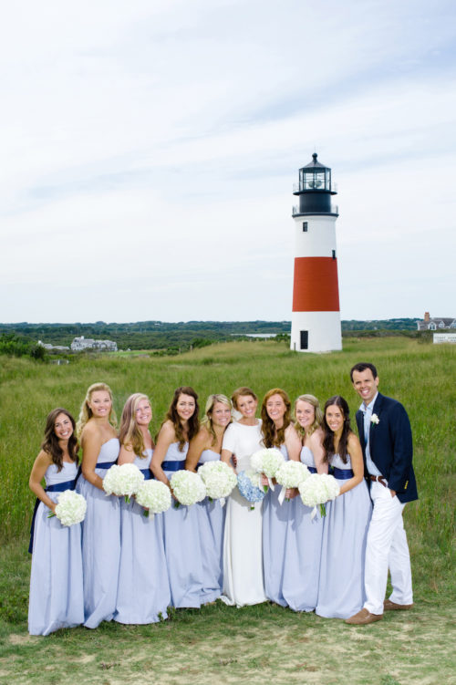 design darling bridesmaid photos at sankaty lighthouse