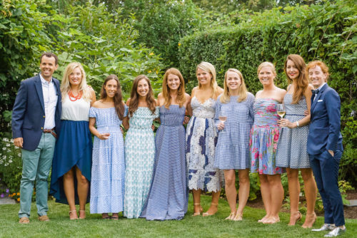 design darling bridesmaids at rehearsal dinner