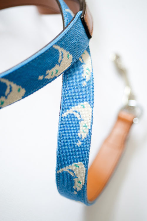 design darling needlepoint nantucket leash for wedding