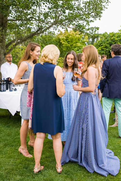 design darling rehearsal dinner dress blue and white stripes