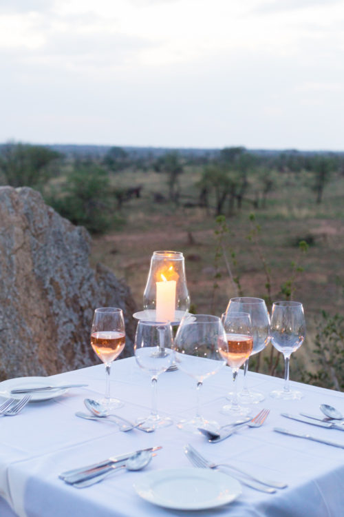 four seasons serengeti honeymoon dinner
