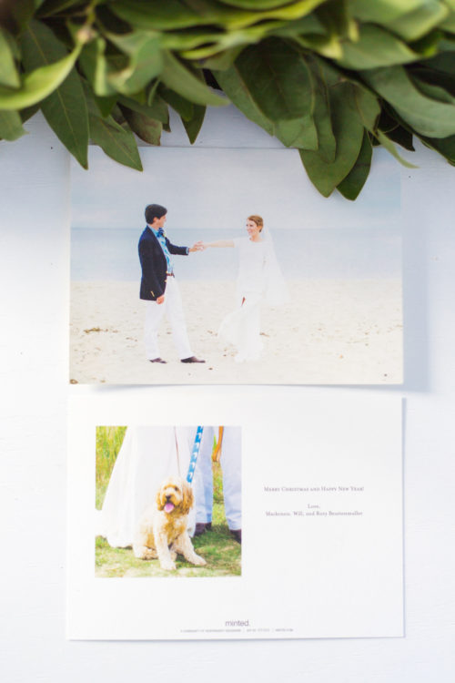 minted big picture holiday cards