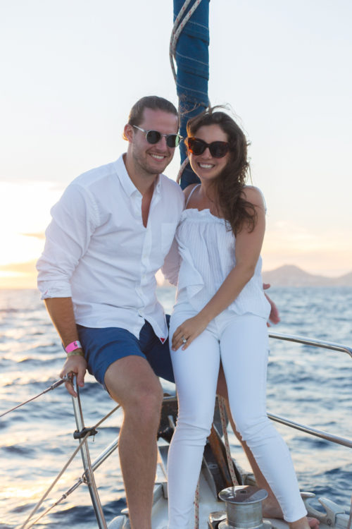 all white sailing outfit