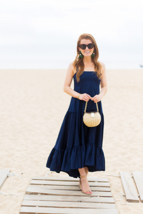 celine caty sunglasses do+be havana maxi dress frances valentine honey pot straw bag