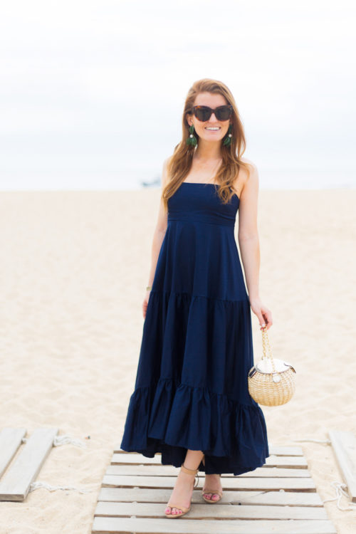 celine caty sunglasses do+be havana maxi dress frances valentine honey pot straw bag loeffler randall piper wedges