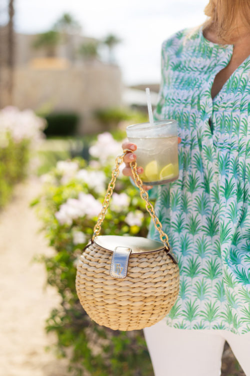 frances valentine honey pot round straw bag