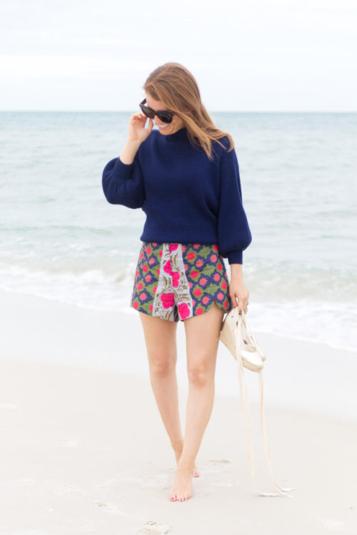 line & dot alder sweater and rhode resort sami shorts