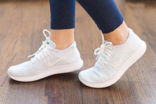 nike free run flyknit 2 running sneakers in white