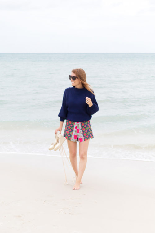 shopbop line & dot alder sweater and rhode resort sami shorts