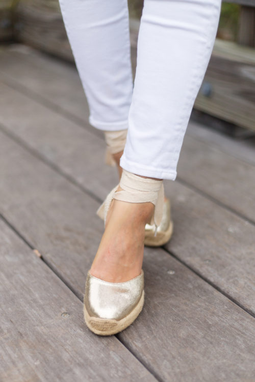 soludos gold wedge espadrilles