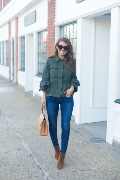 banana republic peplum utility jacket